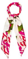Chanel Camellia Ikat Scarf