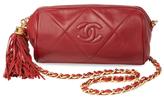 Chanel Vintage Red Lambskin Barrel Mini