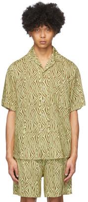 Nanushka Green Zebra Ville Short Sleeve Shirt