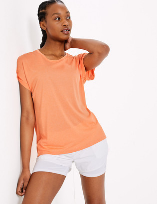 Marks and Spencer Round Neck Short Sleeve Top