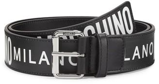 Moschino Printed Logo Leather Belt