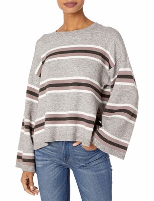 Cupcakes And Cashmere Women's Amour Striped Pullover with Side Slits