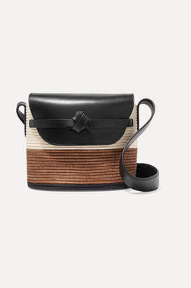 Cesta Collective - Leather-trimmed Woven Sisal Bucket Bag - Tan
