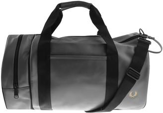 Fred Perry Twin Tonal Barrel Bag Grey