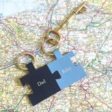 Undercover Personalised Dad Pair Of Keyrings In Blue