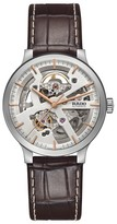 Rado Men's Centrix Open Heart Automatic Leather Strap Watch, 38Mm