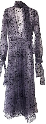 Burberry Purple Lace Dress for Women