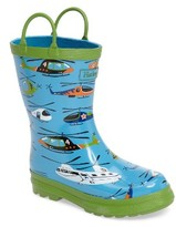 Hatley Toddler Boy's Helicopters Waterproof Rain Boot