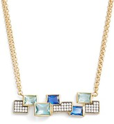 Freida Rothman Women's Modern Mosaic Bar Pendant Necklace