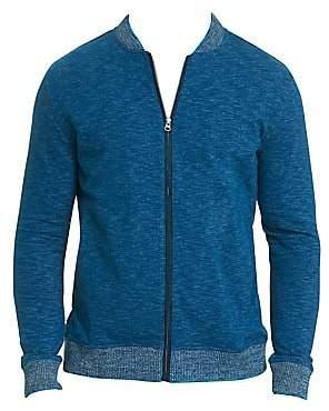 Robert Graham Men's Kaison Cotton Slub Zip-Front Knit