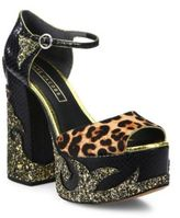 Marc Jacobs Dolls Adriana Calf Hair & Leather Platform Pumps