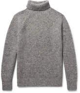 Inis Meáin - Boatbuilder Slim-fit Merino Wool-blend Rollneck Sweater - Gray