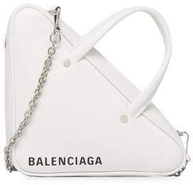 Balenciaga Triangle Chain Duffle XS White