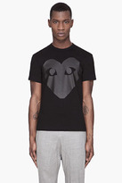 Comme des Garcons Black glossy Heart t-shirt