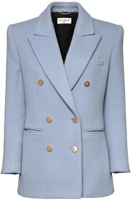 Saint Laurent Wool & Cashmere Double Breast Jacket