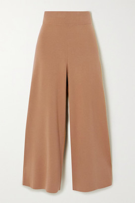 A.L.C. Mateo Cropped Knitted Wide-leg Pants - Camel
