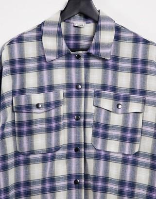Pimkie checked shirt in purple