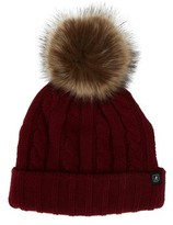 Nick Graham Men's Fur Pom Cable Beanie