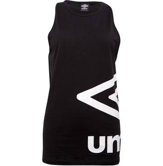 Umbro Womens Active Style Large Logo Vest Black/White