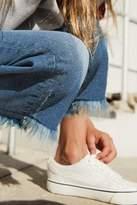 Next Girls Mid Blue Frayed Jeans (3-16yrs) - Blue