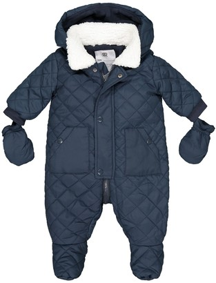 La Redoute Collections Hooded Fleece Lined Quilted Snowsuit, 1 Month-2 Years