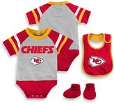NFL Kansas City Chiefs 3-Piece Creeper Bib and Bootie Set
