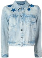 Givenchy star print bleached jacket - women - Cotton - 36