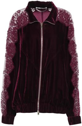 Stella McCartney Lace-paneled Velvet Jacket