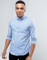Esprit Slim Fit Button Down Shirt in Light Blue