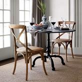Williams-Sonoma Williams Sonoma La Coupole Indoor/Outdoor Dining Table, Round Black Granite Top