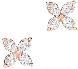 Tiffany & Co. Victoria earrings in 18k rose gold with diamonds, mini
