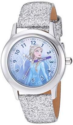 Disney Girls' Frozen 2 Stainless Steel Analog Quartz Watch with Patent Leather Strap