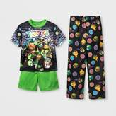 Nickelodeon Boys' Teenage Mutant Ninja Turtles 3pc Pajama Set - Black