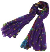Rokou Women cotton Scarf Wraps Shawl Stole Soft Scarve Flower Super