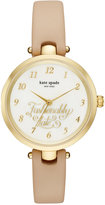 Kate Spade Women's Holland Vachetta Leather Strap Watch 34mm KSW1220