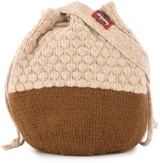 Familiar knitted acorn bottle bag