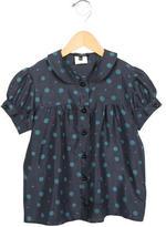 Little Marc Jacobs Girls' Printed Silk Top