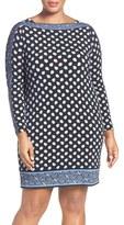 MICHAEL Michael Kors Plus Size Women's Border Print Jersey Shift Dress