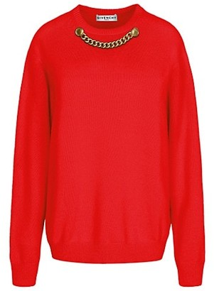 Givenchy Wool & Cashmere Chain Knit Sweater
