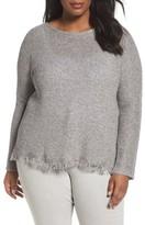 Eileen Fisher Plus Size Women's Fringe Hem Sweater