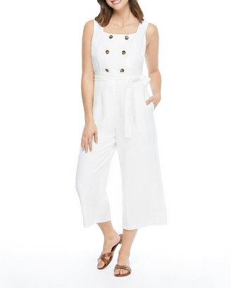 Gal Meets Glam Double Breasted Sleeveless Jumpsuit