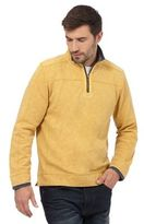 Mantaray Yellow Pique Zip Neck Top