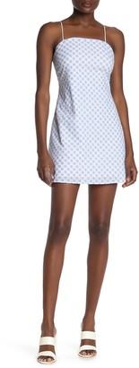 Rowa Strappy Eyelet Square Neck Dress