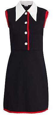 Miu Miu Women's Jersey Contrast Collar Dress