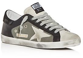 Golden Goose Unisex Superstar Leather & Mesh Low-Top Sneakers