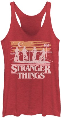 Licensed Character Juniors' Netflix Stranger Things Night Silhouettes Tank