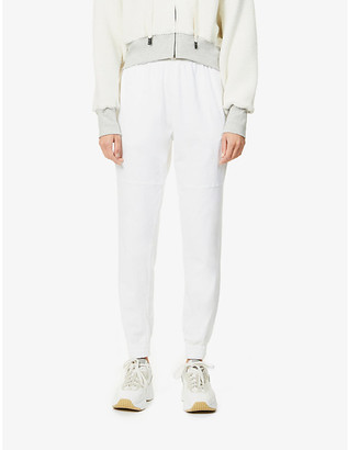 Bassike Tapered high-rise organic cotton jogging bottoms