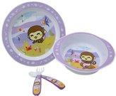 Panda Superstore 4-Piece High Quality Unbreak Lovely Monkey Healthy Baby Dinnerware Set