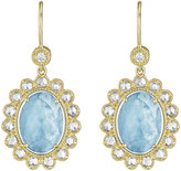 Penny Preville 18k Oval Aquamarine & Diamond Drop Earrings