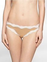 Calvin Klein Womens Thong With Lace Underwear